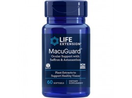 Life Extension MacuGuard® Ocular Support with Saffron & Astaxanthin, 60 softgels