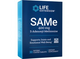 Life Extension SAMe (S-Adenosyl-Methionine) 400 mg, 30 enteric coated tablets