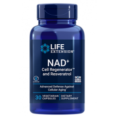 Life Extension NAD+ Cell Regenerator™ and Resveratrol 300 mg, 30 vege caps