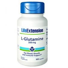 Life Extension L-Glutamine 500mg, 100 capsules (Expiry Jul 2021)