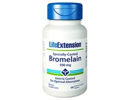 Life Extension Specially-Coated Bromelain, 60 enteric coated tablets (Expiry Mar 2021)