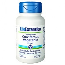 Life Extension Triple Action Cruciferous Vegetable Extract, 60 vegetarian capsules