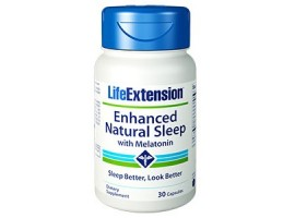 Life Extension Enhanced Natural Sleep® with Melatonin, 30 capsules (Expiry Aug 2021)