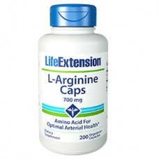 Life Extension L-Arginine Caps 700 mg, 200 vege caps (Expiry June 2021)