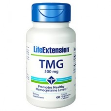 Life Extension TMG 500 mg, 60 liquid vege caps (Expiry Sept 2021)