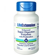 Life Extension Enhanced Super Digestive Enzymes With Probiotics, 60 vege caps