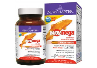 New Chapter Wholemega® Whole Fish Oil, 120 softgels